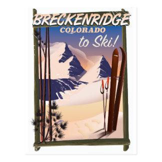 Affiche de ski de Breckenridge, le Colorado Carte Postale