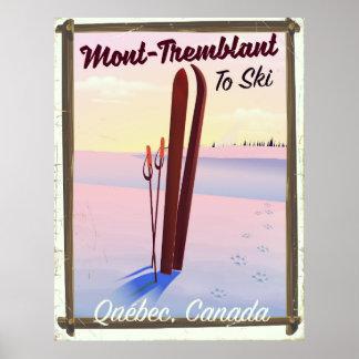 Affiche de ski de Mont-Tremblant Québec Poster