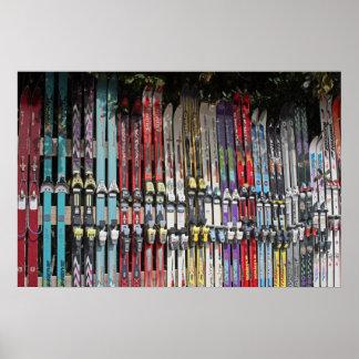 Affiche de skis