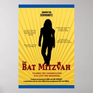 Affiche de star de cinéma de bat mitzvah