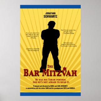 Affiche de star de cinéma de Mitzvah de barre