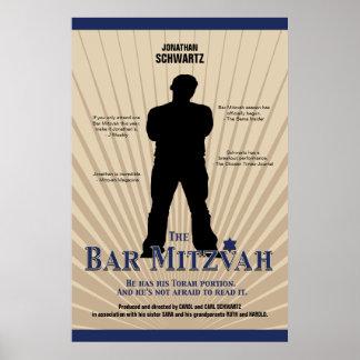 Affiche de star de cinéma de Mitzvah de barre dans