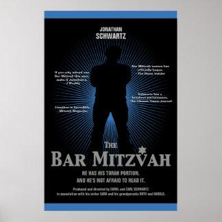 Affiche de star de cinéma de Mitzvah de barre dans Posters
