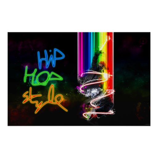 Affiche de style de hip hop