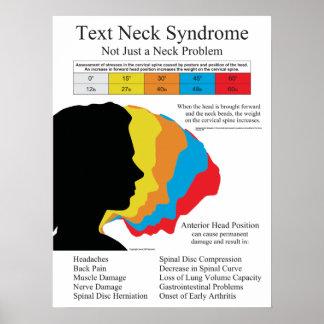 Affiche de syndrome de cou des textes poster