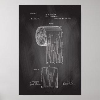 Affiche de tableau d'impression de brevet de petit