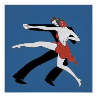 Affiche de tango d'années '20