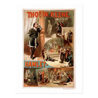 "Affiche de théâtre de William Shakespeare ""Hamlet"" Carte Postale"