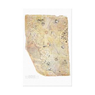 Affiche de toile de carte du monde de Piri Reis Toiles