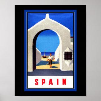 Affiche de tourisme de l'Espagne Poster
