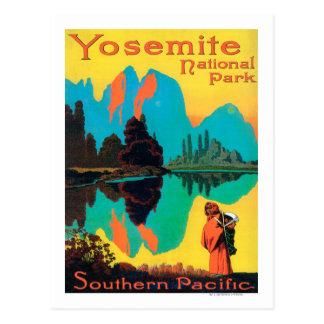 Affiche de touristes - parc national de Yosemite, Cartes Postales