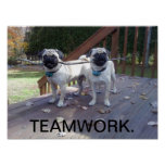 Affiche de travail d'équipe ! Carlins fonctionnant