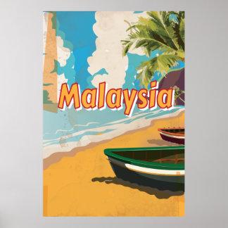 Affiche de vacances de plage de la Malaisie