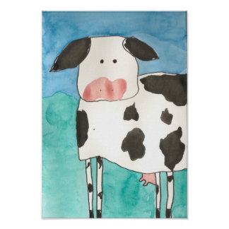 Affiche de vache
