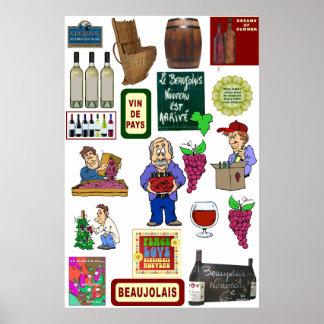 Affiche de vin, Beaujolais Nouveau Posters