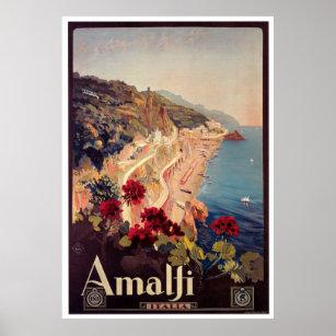 Affiche de Vintage voyage d'Amalfi, Italie
