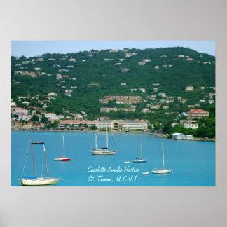 Affiche de voiliers de St Thomas