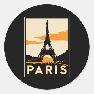 affiche de voyage d art déco de Paris rétro Autocollants