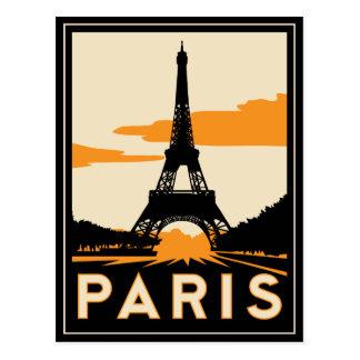 affiche de voyage d art déco de Paris rétro Cartes Postales
