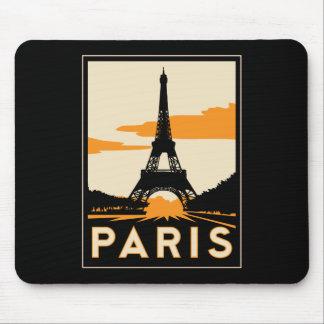 affiche de voyage d art déco de Paris rétro Tapis De Souris