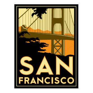 Affiche de voyage d art déco de San Francisco Cartes Postales