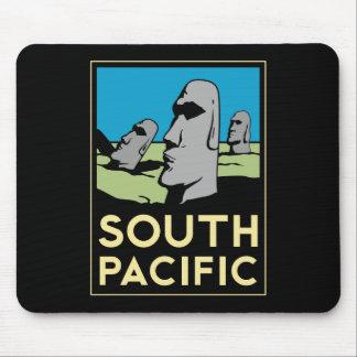 Affiche de voyage d art déco de South Pacific Tapis De Souris