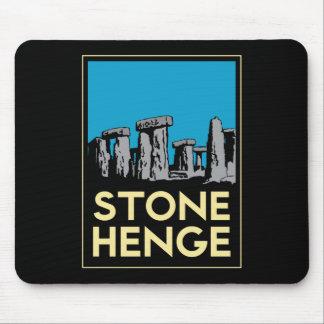 Affiche de voyage d art déco de Stonehenge Tapis De Souris