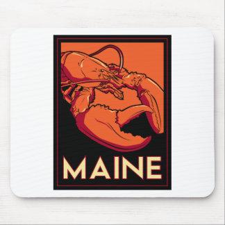 Affiche de voyage d art déco du Maine rétro Tapis De Souris