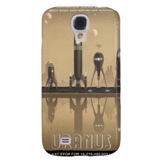 Affiche de voyage dans l'espace à Uranus Coque Galaxy S4