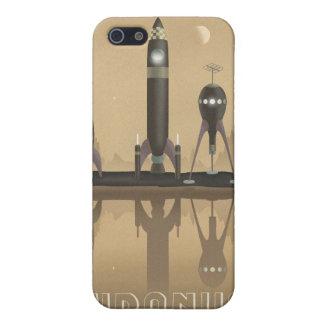 Affiche de voyage dans l'espace à Uranus iPhone 5 Case