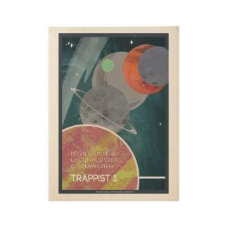 Affiche de voyage dans l'espace d'art déco du