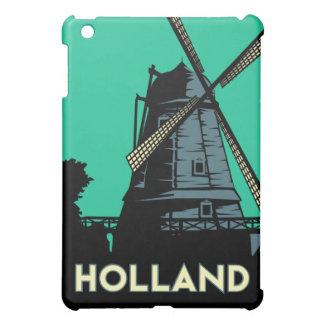 affiche de voyage d'art déco de la Hollande rétro Coques iPad Mini