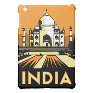 affiche de voyage d'art déco de l'Inde rétro Étuis iPad Mini