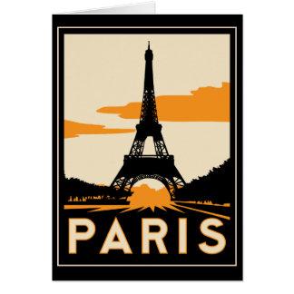 affiche de voyage d'art déco de Paris rétro Cartes