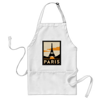affiche de voyage d'art déco de Paris rétro Tabliers