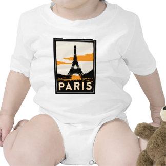 affiche de voyage d'art déco de Paris rétro T-shirt