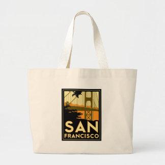 Affiche de voyage d'art déco de San Francisco Sacs Fourre-tout