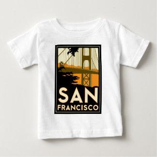 Affiche de voyage d'art déco de San Francisco T-shirt Pour Bébé