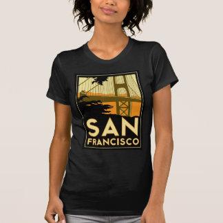 Affiche de voyage d'art déco de San Francisco T-shirt