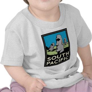Affiche de voyage d'art déco de South Pacific T-shirts