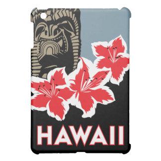 affiche de voyage d'art déco d'Hawaï rétro Étui iPad Mini