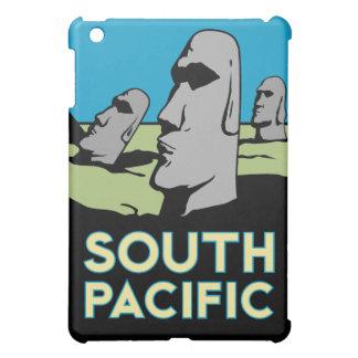 affiche de voyage d'art déco d'île de Pâques rétro Coque iPad Mini