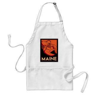 Affiche de voyage d'art déco du Maine rétro Tabliers
