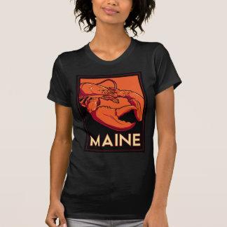 Affiche de voyage d'art déco du Maine rétro T-shirts