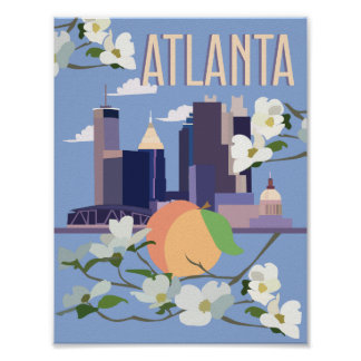 Affiche de voyage d'Atlanta Poster