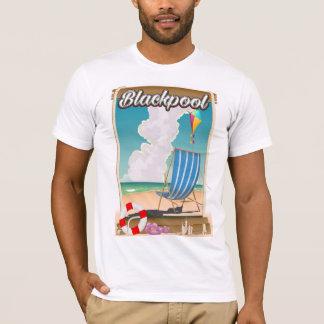 Affiche de voyage de bord de la mer de plage de t-shirt