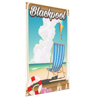 Affiche de voyage de bord de la mer de plage de toiles