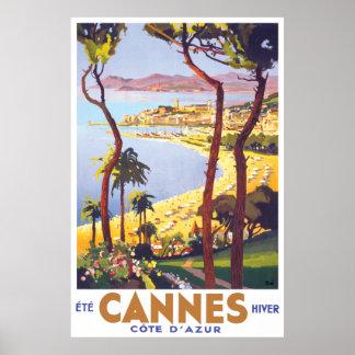 Affiche de voyage de Cannes