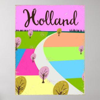 Affiche de voyage de champs de la Hollande Poster
