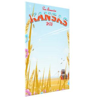 Affiche de voyage de ferme du Kansas Etats-Unis Toiles